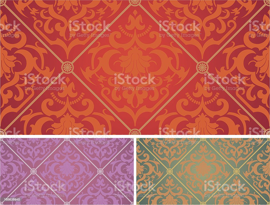 Rococo Seamless Background royalty-free stock vector art