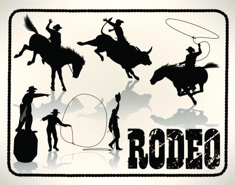 Rodeo - Bull Rider, Lasso, Cowboy Clown