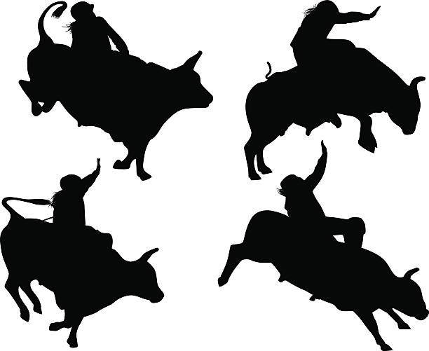 Royalty Free Bull Rider Clip Art, Vector Images ...