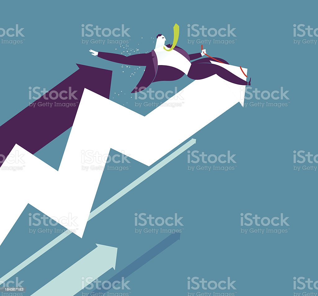 Rodeo businessman royalty-free stock vector art