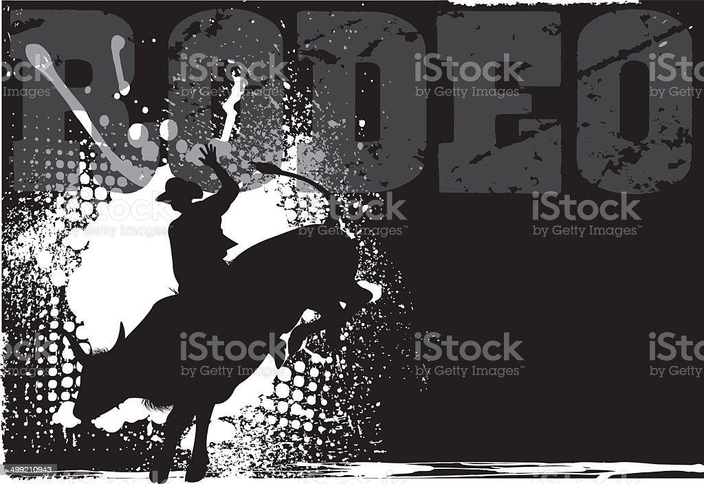 Rodeo Grunge Background vector art illustration