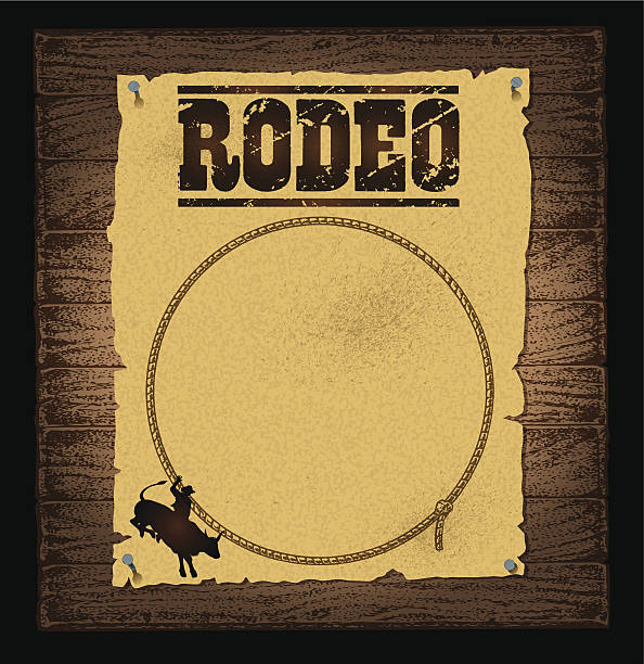 rodeo poster background - rodeo stock illustrations, clip art, cartoons, & icons