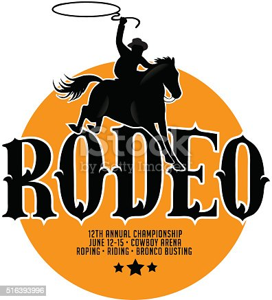 Rodeo poster design with copy space. EPS 10