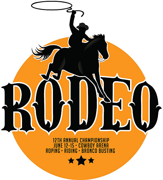 rodeo poster design with copy space. - rodeo stock illustrations, clip art, cartoons, & icons