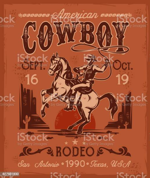 Rodeo poster with a cowboy sitting on rearing horse in vector id627931830?b=1&k=6&m=627931830&s=612x612&h=opmmuq6lqdnyb3h5mpmxyyrm7xgw5huaoqa81ruwrrg=