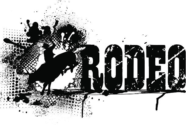 Royalty Free Bull Riding Clip Art Vector Images