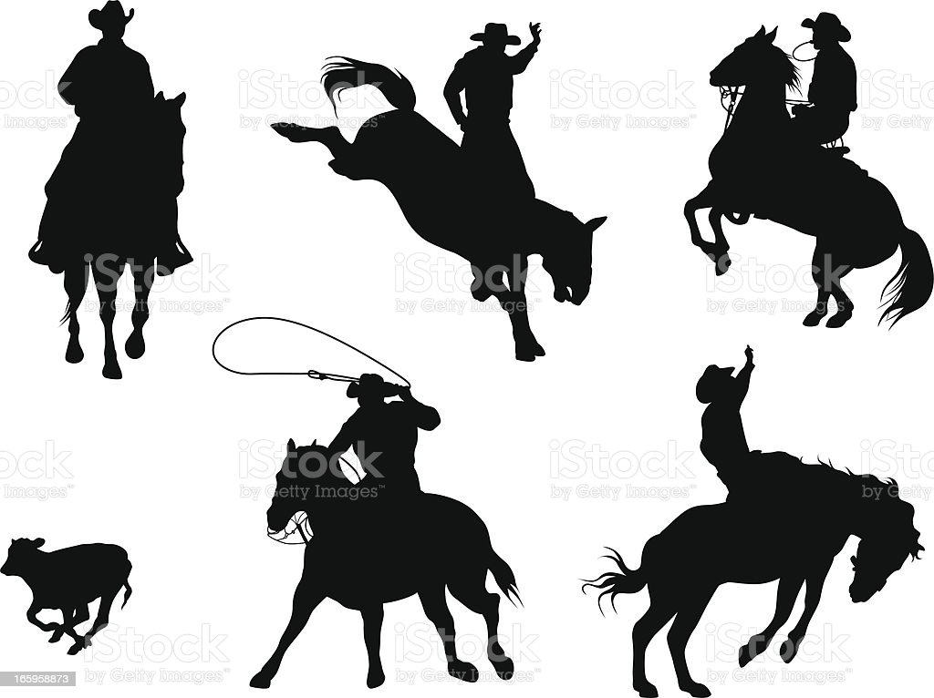 Rodeo Stars Vector Silhouette