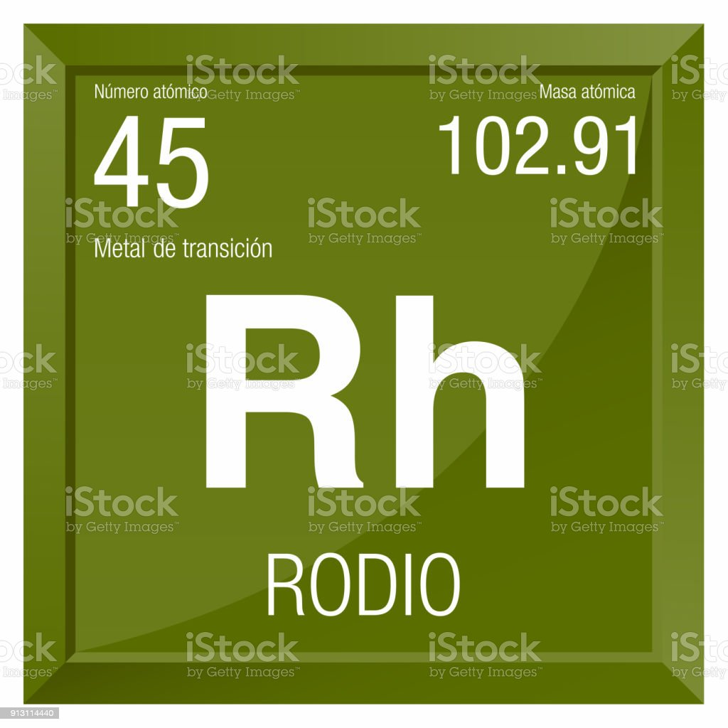 Rodio symbol rhodium in spanish language element number 45 of the rodio symbol rhodium in spanish language element number 45 of the periodic table of urtaz Images