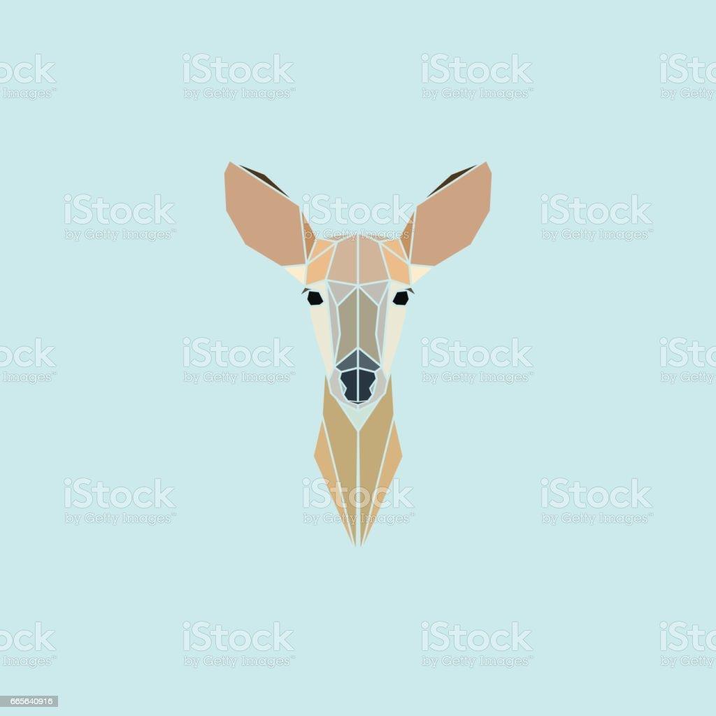 Le chevreuil tête de géométrie. - Illustration vectorielle