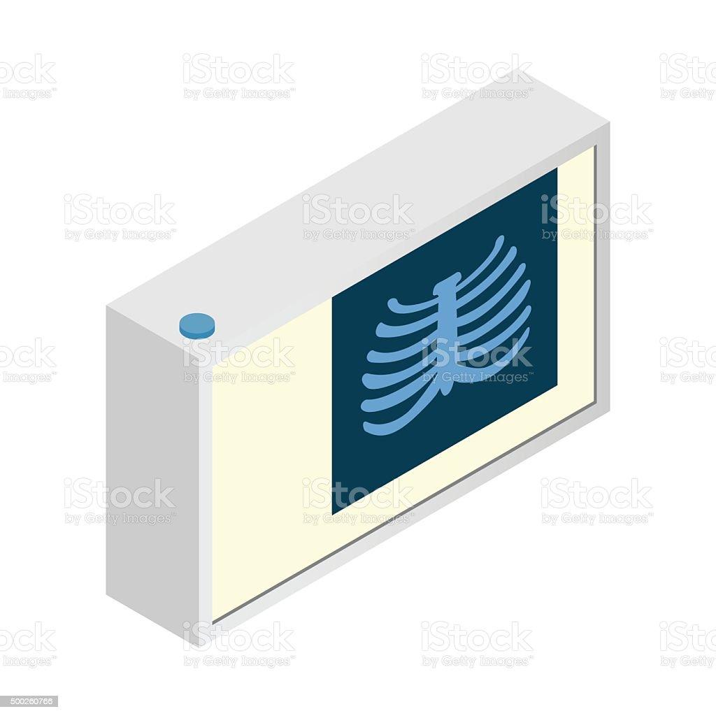 Roentgen isometric 3d icon vector art illustration