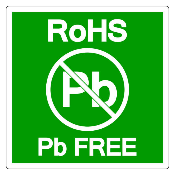 RoHS Pb Free Symbol Sign, Vector Illustration, Isolate On White Background Label. EPS10 RoHS Pb Free Symbol Sign, Vector Illustration, Isolate On White Background Label. EPS10 lead poisoning stock illustrations