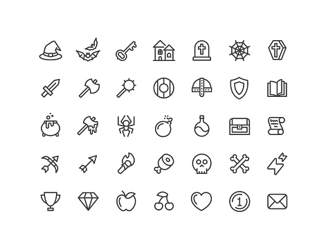Role Playing Game Icons Editable Stroke