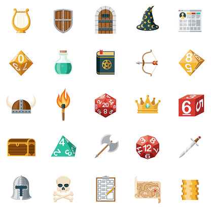 Role Playing Games Icon Set