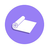 roll cloth icon in badge style. One of Handmade collection icon can be used for UI, UX
