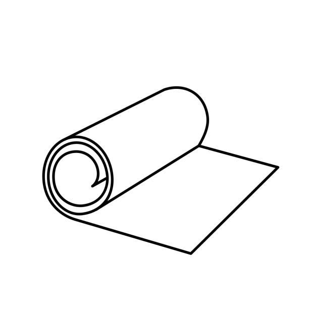 illustrazioni stock, clip art, cartoni animati e icone di tendenza di roll icon - rotolo