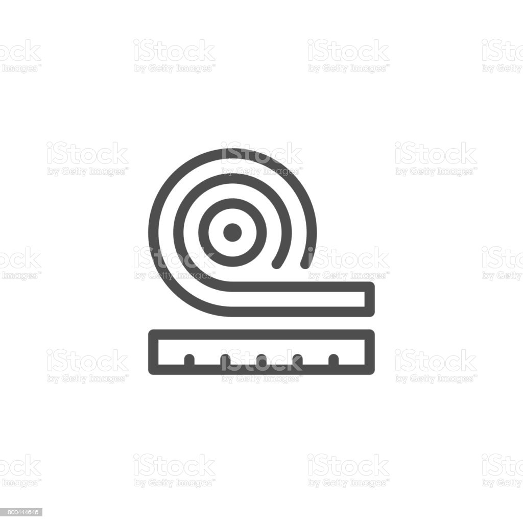 Roll insulation icon vector art illustration