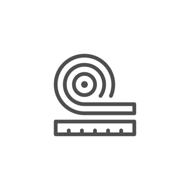 roll-isolierung-symbol - dachboden stock-grafiken, -clipart, -cartoons und -symbole