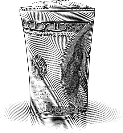 Roll of $100 Dollar Bills