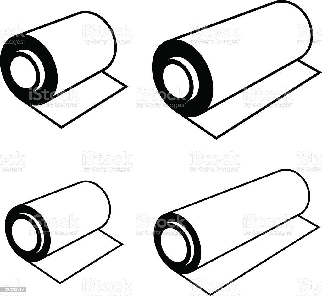 roll of any foil black symbols vector art illustration