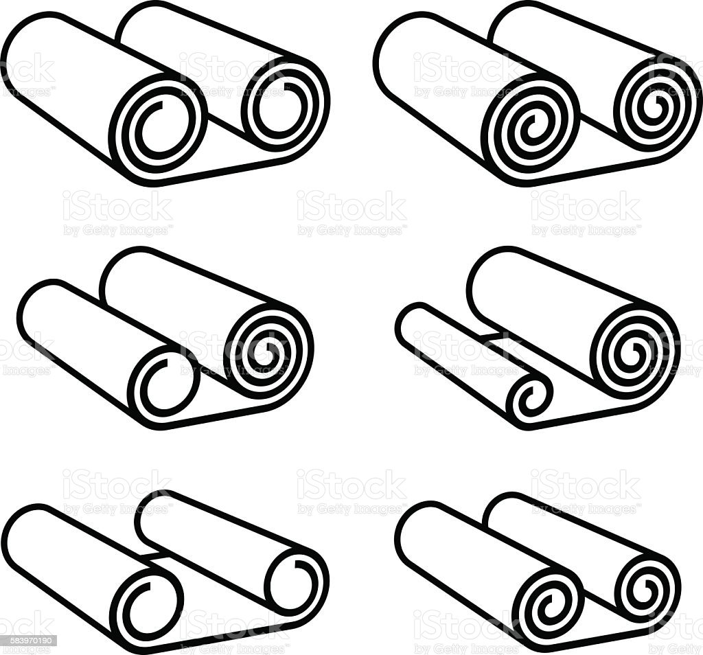 carpet roll vector. roll of anything black symbol royalty-free stock vector art carpet