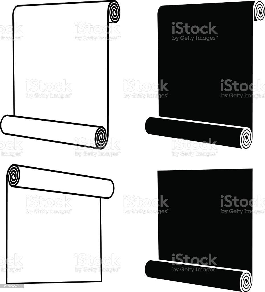 roll of anything black symbol vector art illustration