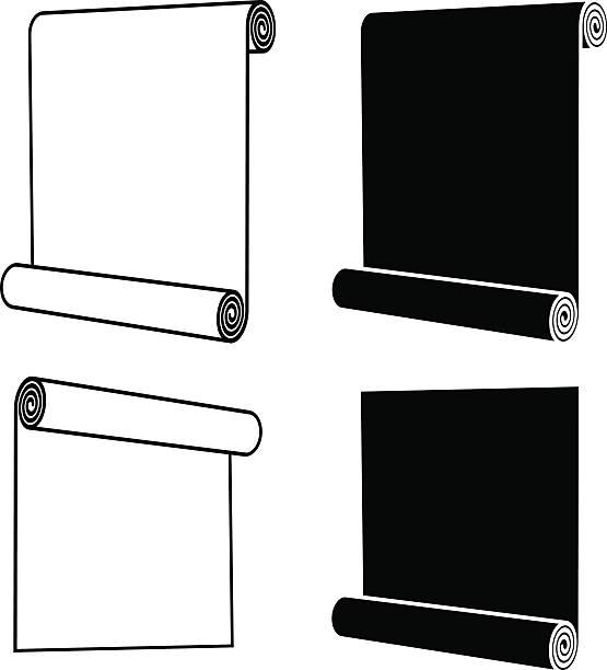 roll of anything black symbol - aluminum foil roll stock illustrations, clip art, cartoons, & icons
