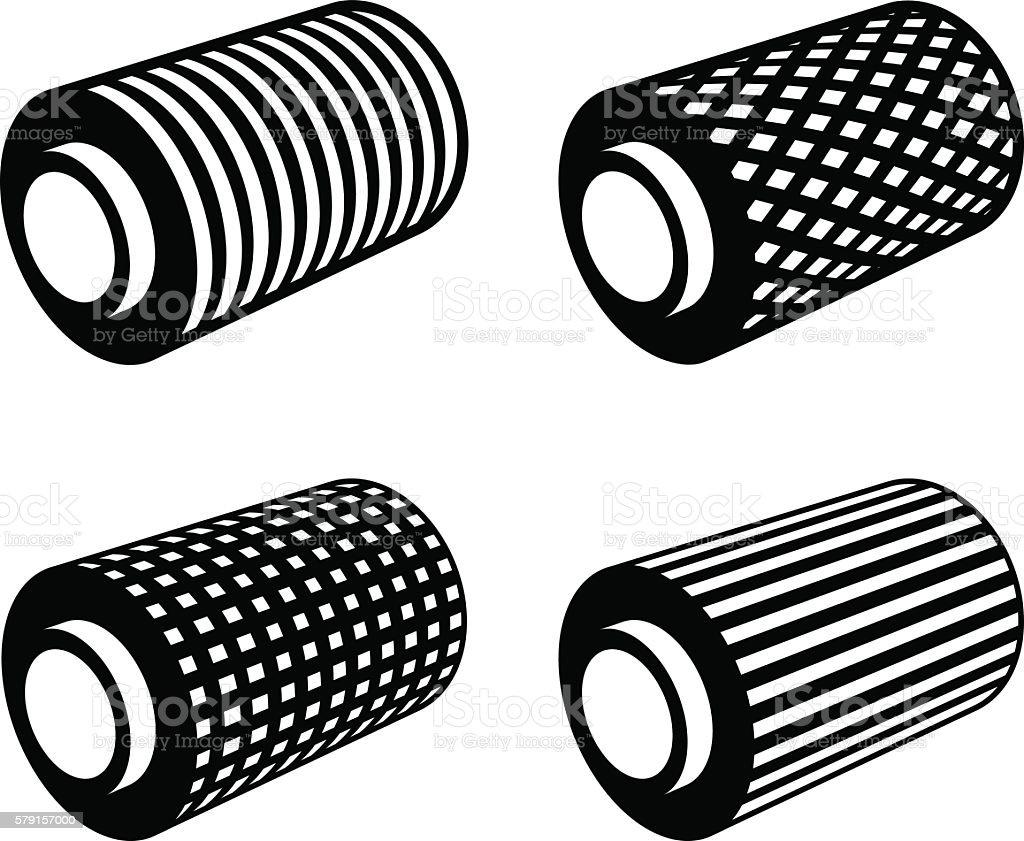 roll of anything foil thread spool vector art illustration