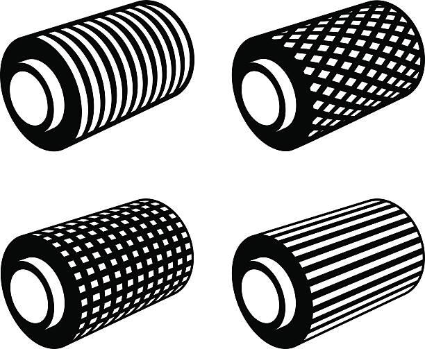 roll of anything foil thread spool - aluminum foil roll stock illustrations, clip art, cartoons, & icons