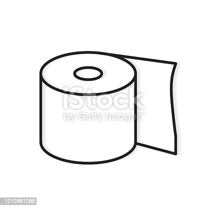 istock roll of toilet paper icon 1212961285