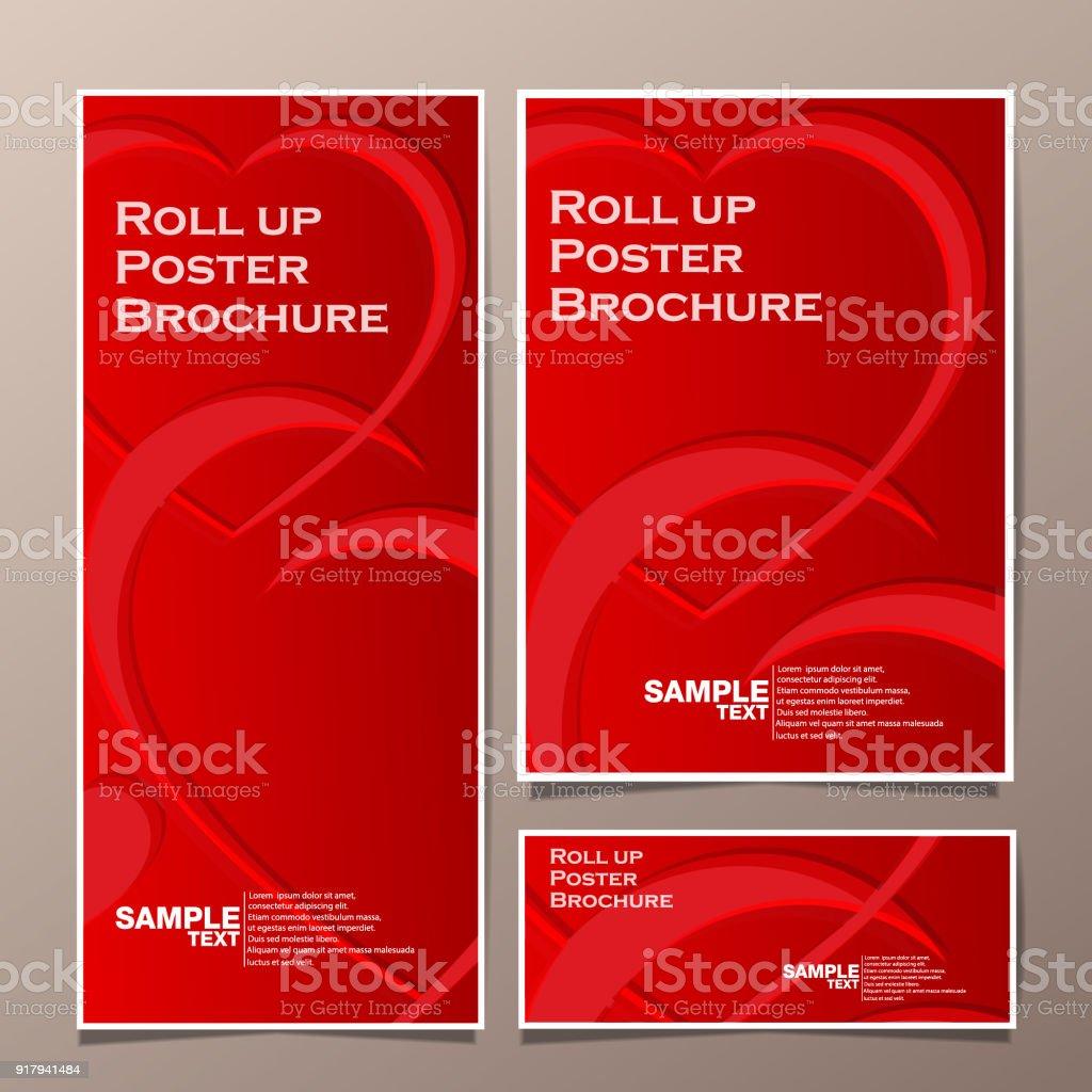 roll up and poster business brochure flyer banner design vertical