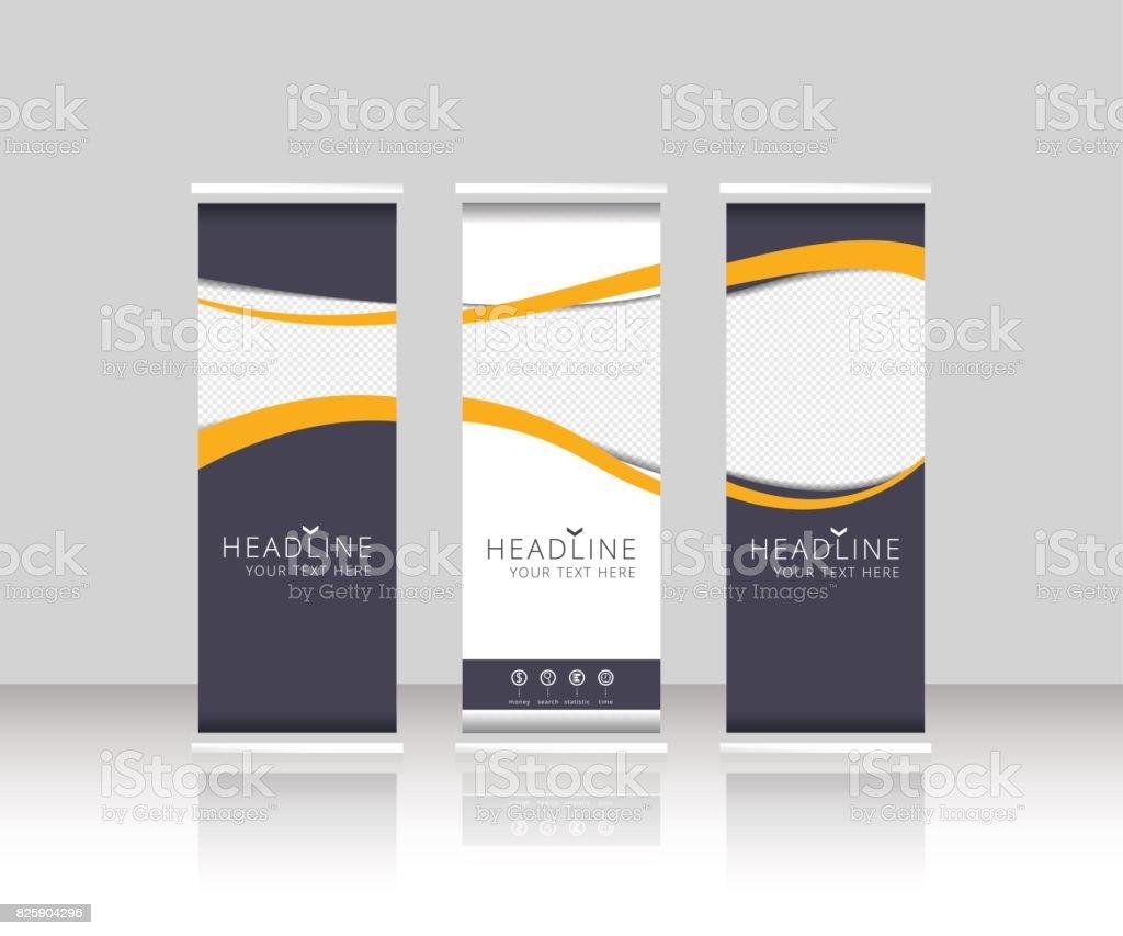 Roll up banner stand design. Vector. vector art illustration