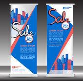 vertical banner design roll up banner template poster advertisement