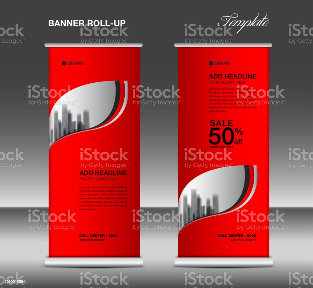 Exhibition Stand Poster Design : Roll up banner template vector advertisement xbanner poster pull
