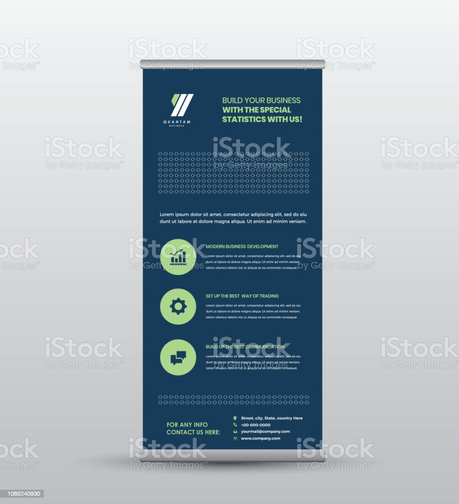 Exhibition Stand Roll Up : Roll up banner trade show stand seminar standing exhibition
