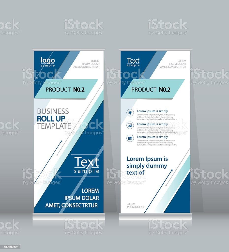 roll up  banner, x stand display design template for business vector art illustration
