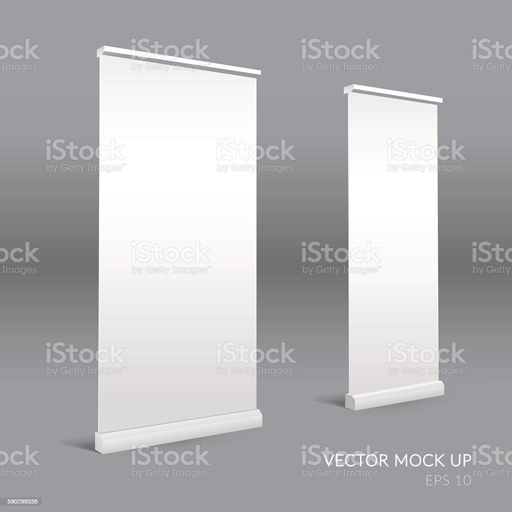 Roll up blank template. Promotion stand royaltyfri roll up blank template promotion stand-vektorgrafik och fler bilder på abstrakt