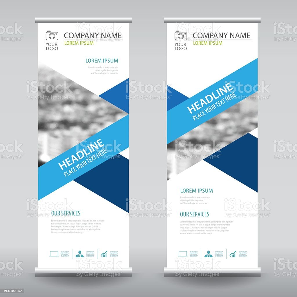 roll up business brochure flyer banner design template