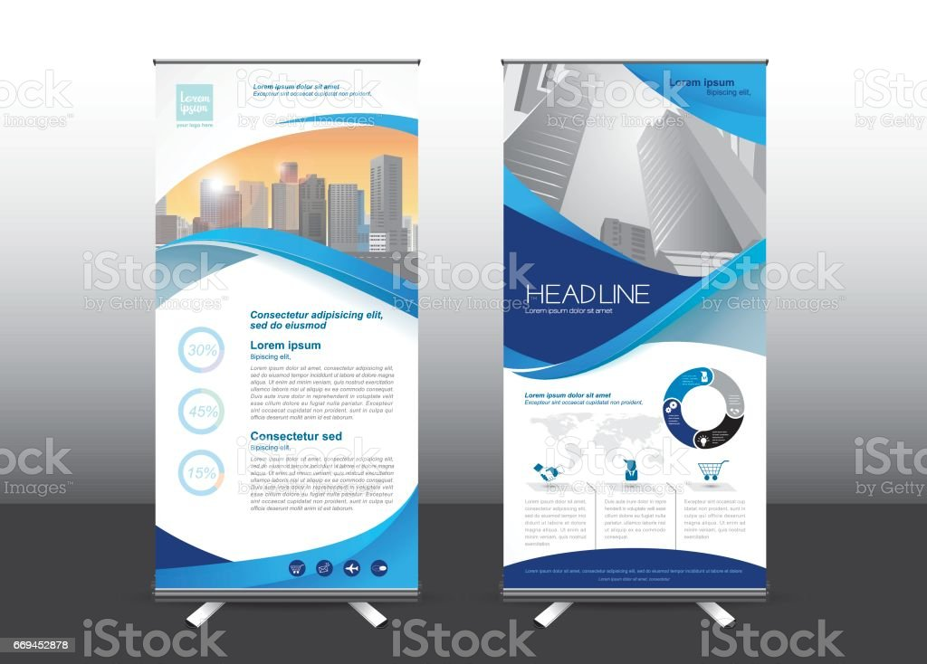Roll Up template vector illustration, vector art illustration