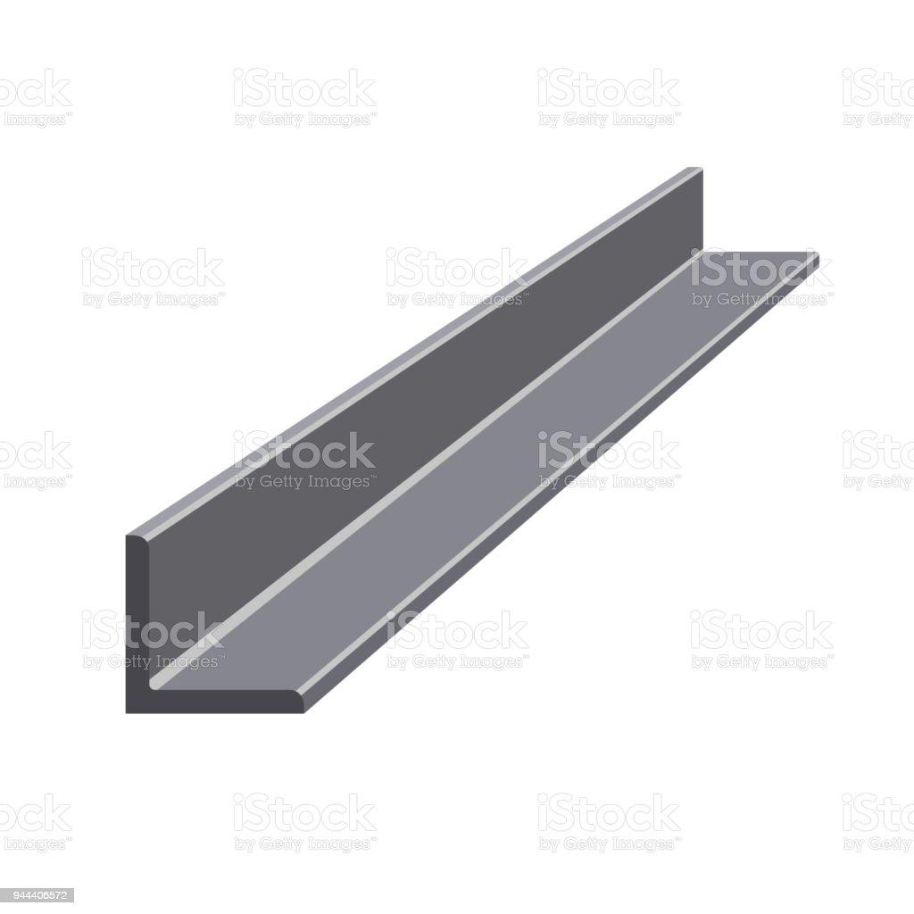 Rolled steel angle vector art illustration