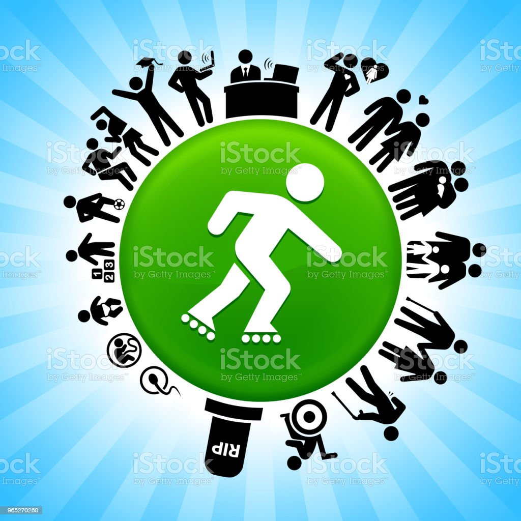 Roller Blading  Lifecycle Stages of Life Background royalty-free roller blading lifecycle stages of life background stock vector art & more images of adolescence