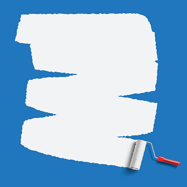 roller brush background roller brush with white paint paint roller stock illustrations