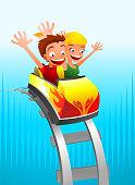 Roller coaster Game for kids