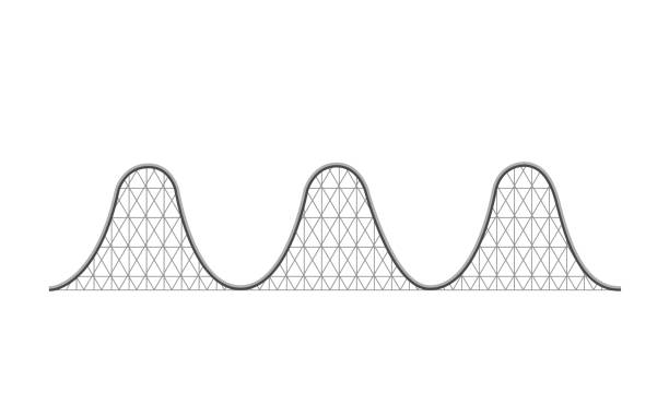 roller coaster ride - roller coaster stock illustrations