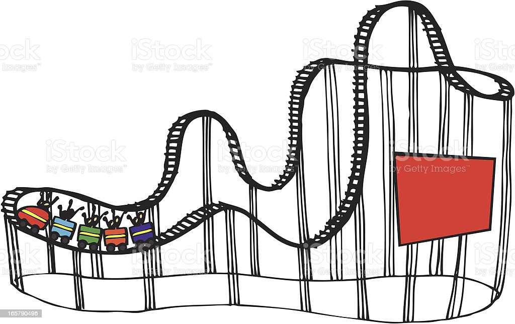 royalty free roller coaster clip art vector images illustrations rh istockphoto com roller coaster clipart images free roller coaster clip art free