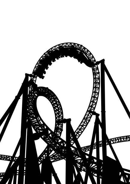 roller coaster - roller coaster stock illustrations