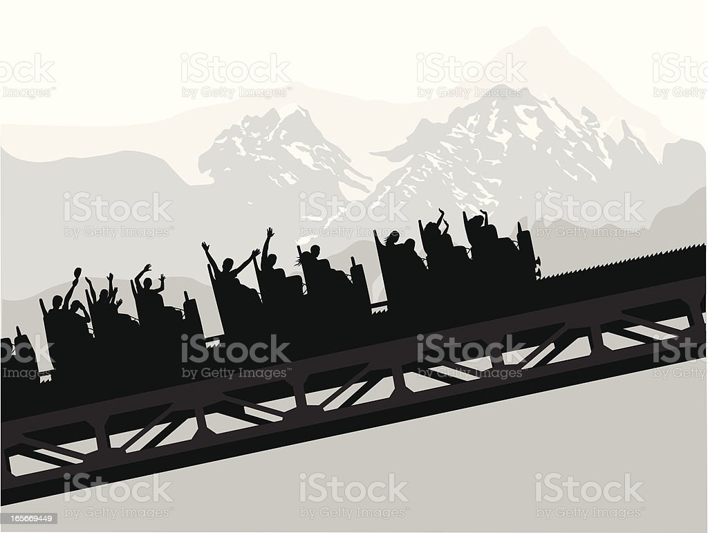 Roller Coaster Vector Silhouette royalty-free stock vector art