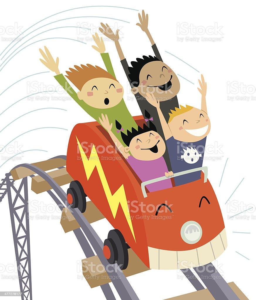 Roller Coaster2 C vector art illustration