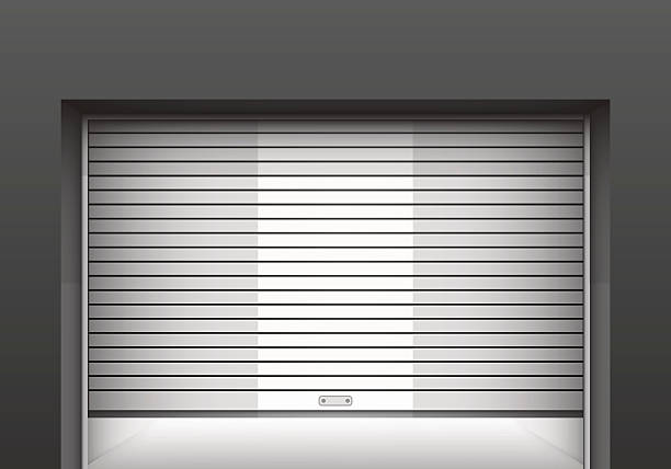 Royalty Free Rolling Garage Door Clip Art Vector Images