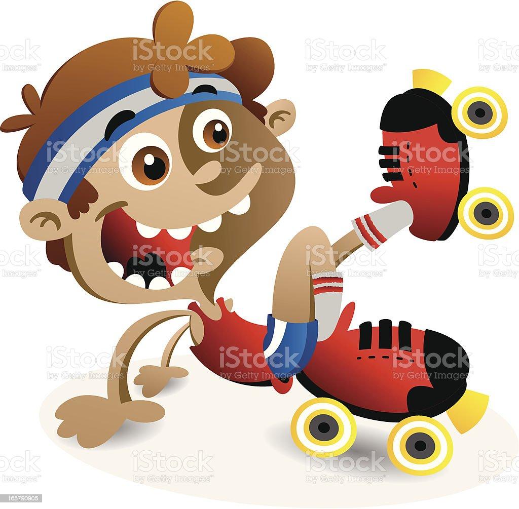 Roller Skate Dance royalty-free roller skate dance stock vector art & more images of boys