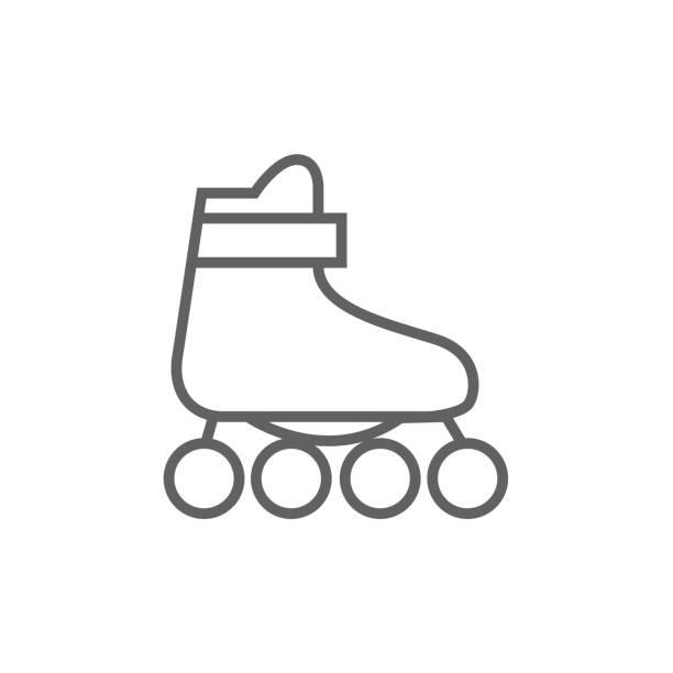 ilustrações, clipart, desenhos animados e ícones de patim de linha ícone - ícones de design planar